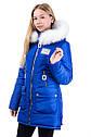Зимняя удлиненная куртка на девочку размеры 38- 44 Новинка! Корона, фото 2