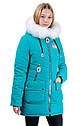 Зимняя удлиненная куртка на девочку размеры 38- 44 Новинка! Корона, фото 10