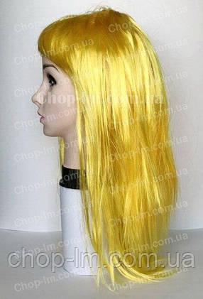 Парик желтый, прямой (55 см), фото 2
