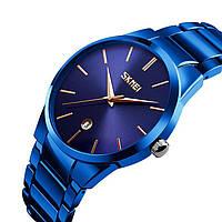 Мужские наручные часы SKMEI 9140 синий металлик, фото 1