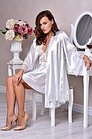 Белоснежный халат с пеньюаром для Невесты Шанталь , фото 1