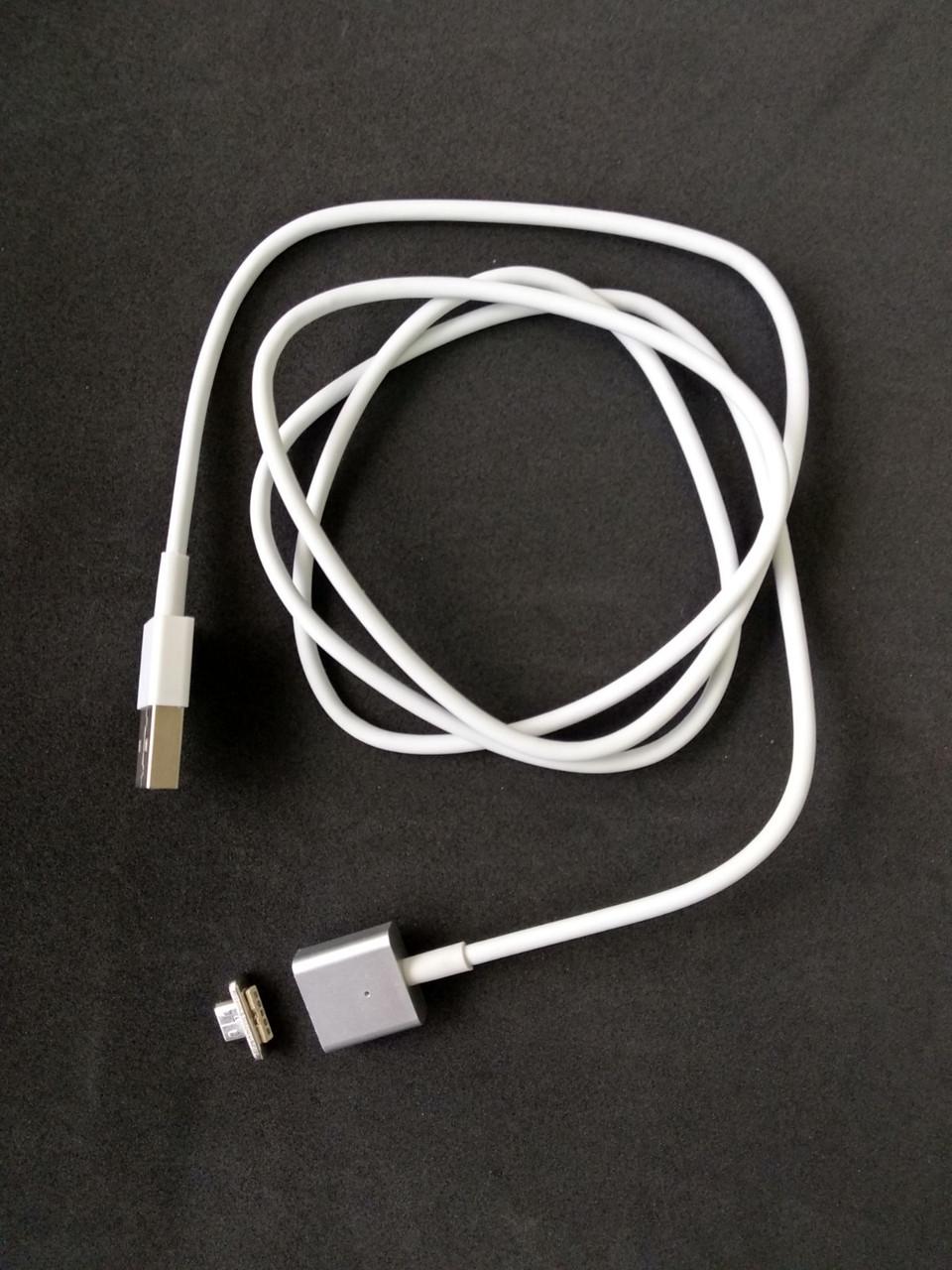 Usb-cable Micro USB Magnetic white (тех. упаковка)