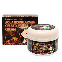 Паровой увлажняющий крем Elizavecca Milky Piggy Aqua Rising Argan Gelato Steam Cream, 100мл