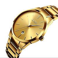 Мужские наручные часы SKMEI 9140 золото, фото 1
