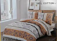 Сатиновое постельное бельё евро размер Elway 5076