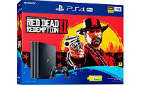 PlayStation 4 Slim 1TB Bundle Red Dead Redemption 2, фото 1