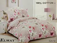 Сатиновое постельное бельё евро размер Elway 5073