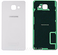 Задняя крышка для Samsung A710F Galaxy A7 (2016), белая, оригинал