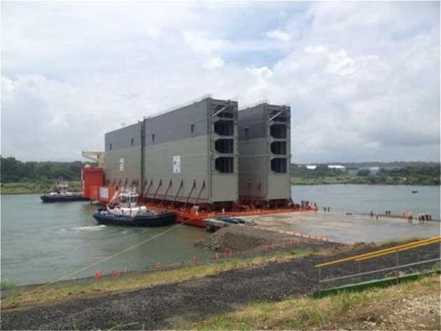 Доставка ворот в Панамский канал