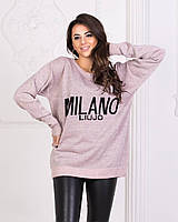 Легкий женский свитер с модной надписью, фото 1