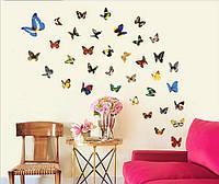 """Наклейки  для детской комнаты, наклейки на планшет, ноутбук, виниловые наклейки """"бабочки 80шт"""" (лист45*30см)"""