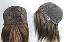 Парик из европейских волос натуральный русый с шёлковой вставкой, фото 7