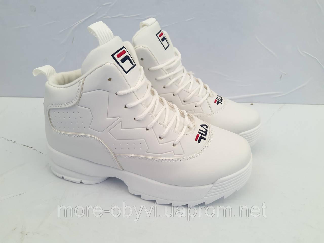 1bdaca47 Кроссовки белые зимние FILA disruptor на меху размер 36-41: продажа ...