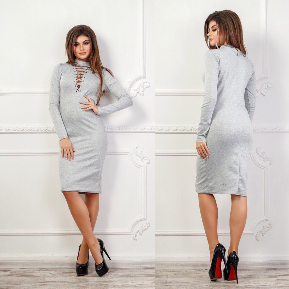 Платье трикотажное в расцветках 25928  Интернет-магазин модной ... bdc7f9884b996