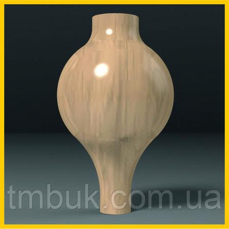 Производство ножек для мягкой и корпусной мебели. Круглая шаровидная опора точеная из дерева. 250 мм, фото 2