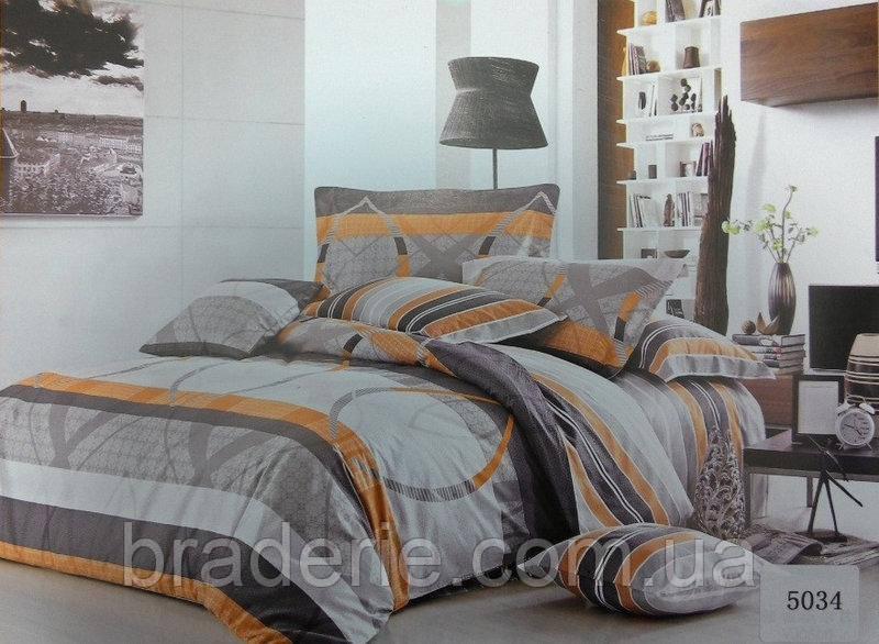 Сатиновое постельное бельё евро размер Elway 5034