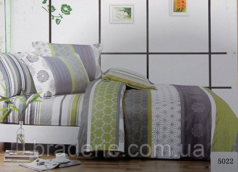 Сатиновое постельное бельё евро размер Elway 5022