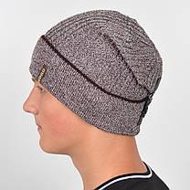 """Чоловіча шапка Nord """"Кнопка"""" з відворотом, фото 2"""