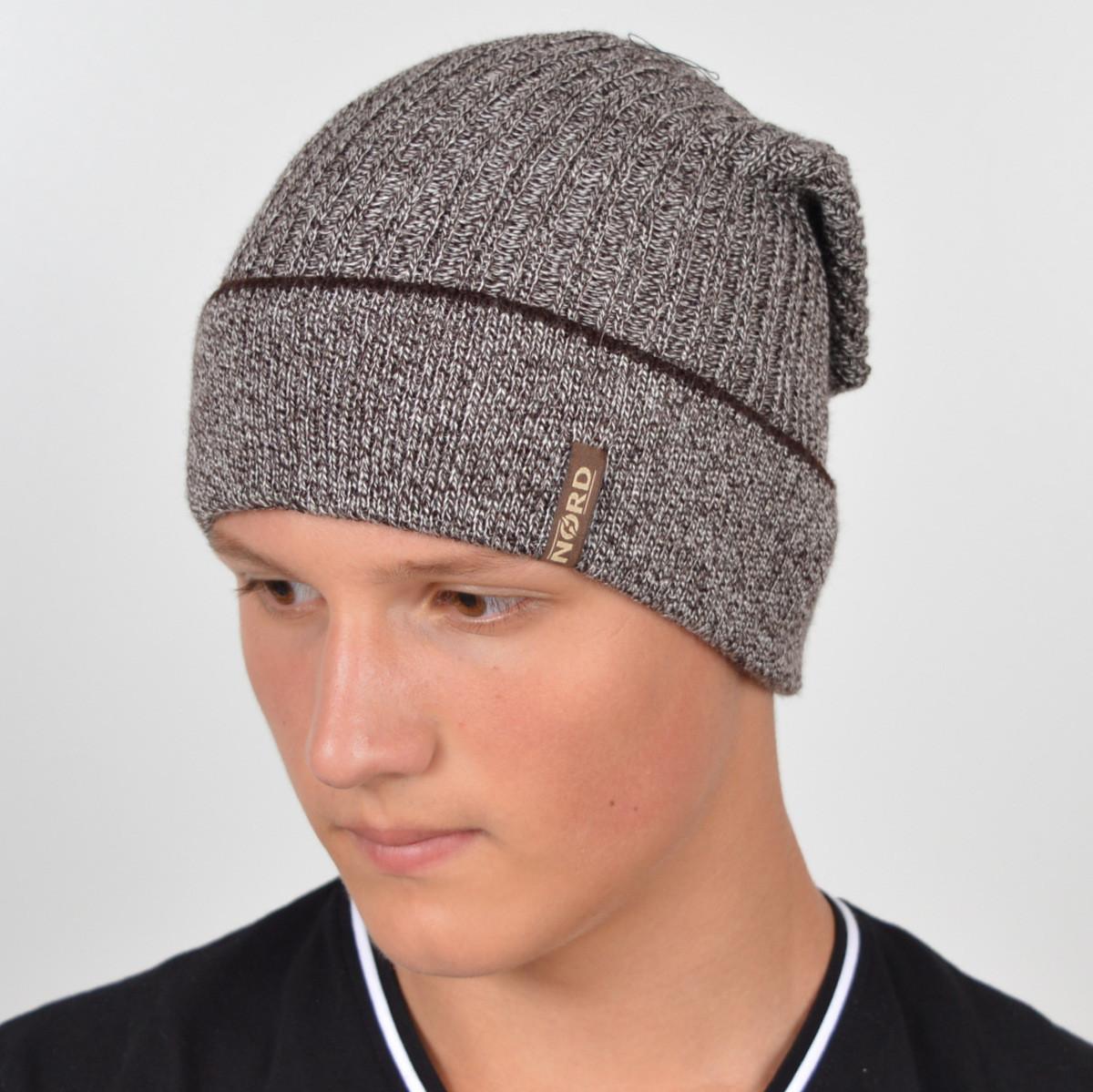 """Чоловіча шапка Nord """"Кнопка"""" з відворотом"""