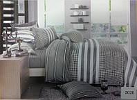 Сатиновое постельное бельё евро размер Elway 5020
