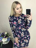 """Платье женское прямое """"Цветы""""  в расцветках  3180, фото 1"""