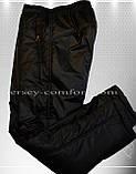 Спортивные брюки зимние  мужские утепленные, плащевка (флис), фото 4