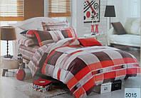 Сатиновое постельное бельё евро размер Elway 5015