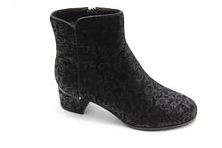 Модные ботинки черная кожа Battine B516