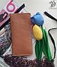 """Жіноче портмоне гаманець, кошелек """"Ві2"""" ручної роботи, натуральна шкіра, на кнопках магнітах, клатч"""