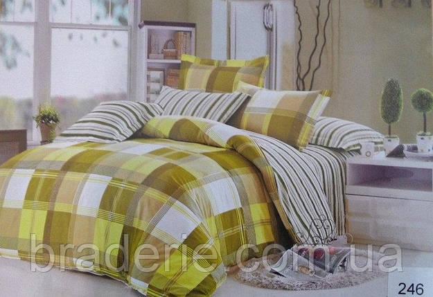 Сатиновое постельное бельё евро размер Elway 246, фото 2