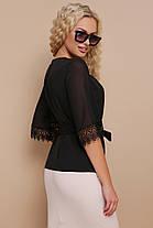 Женская блуза с кружевом размеры S M L (42,44,46), фото 2