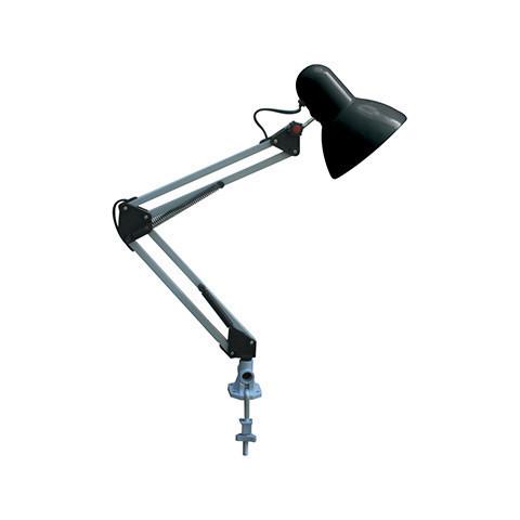 Настільна телескопічна LED-лампа на струбцині Horoz HL 074 RANA чорного кольору