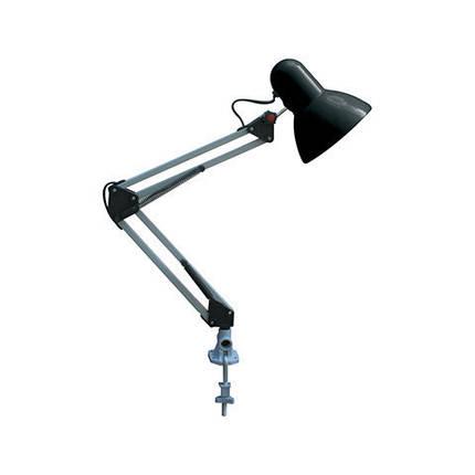 Настільна телескопічна LED-лампа на струбцині Horoz HL 074 RANA чорного кольору, фото 2