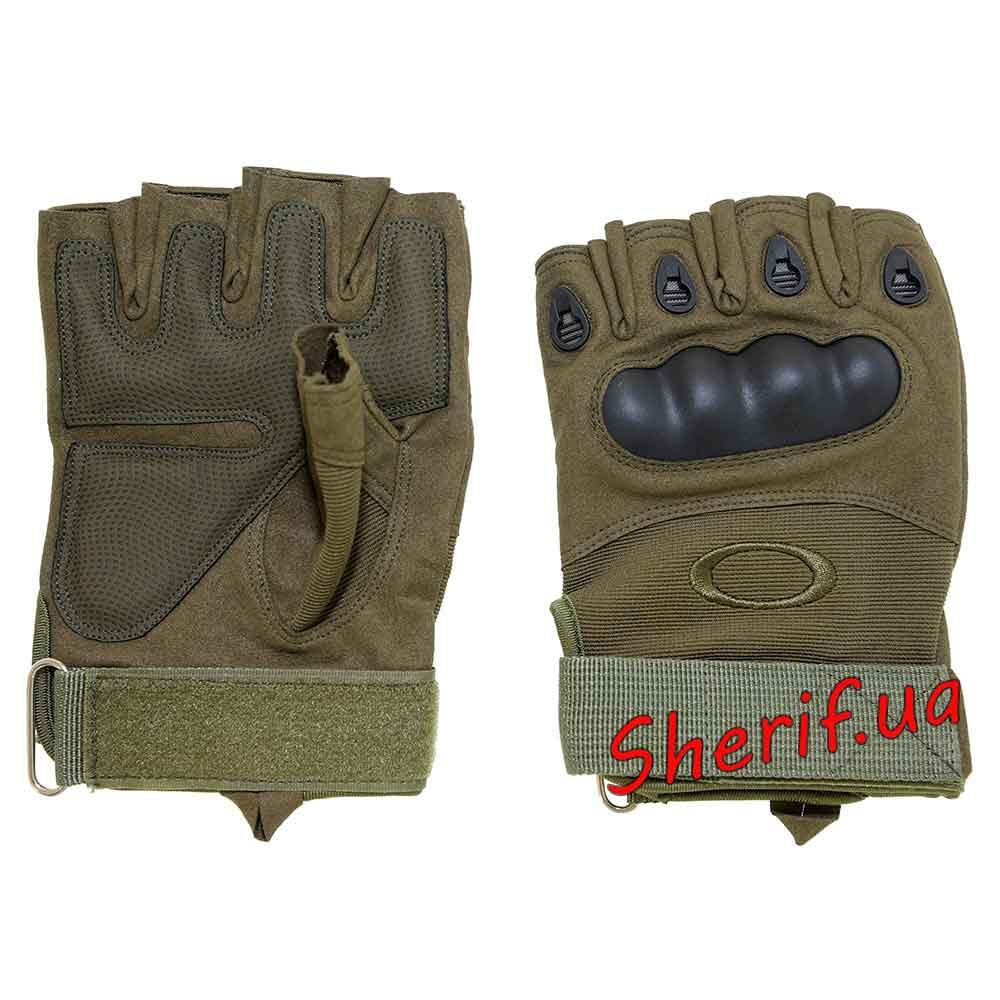 Перчатки тактические короткопалые с защитой костяшек Oakley (олива) - Военторг Шериф в Днепре