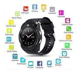 Часы-телефон. Умные часы Smart Watch V8 black. Черные.