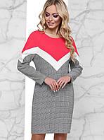 Женское комбинированное платье в клетку (Тараjd)