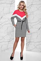 Женское комбинированное платье в клетку (Тараjd), фото 3