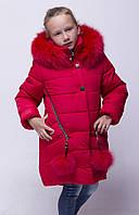 Куртки зимние для девочек  от производителя 32-42 красный