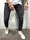 😝 Джинсы - Серые мужские джинсы В3284, фото 2