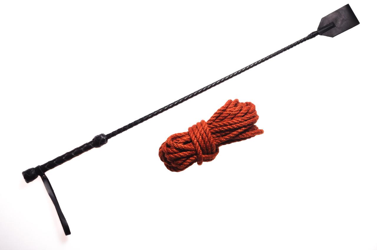 Набор для БДСМ. Плеть Стек, Веревка для шибари 8мм
