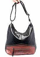 Женская сумка с цветной вставкой