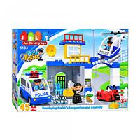 Конструктор для малышей JDLT 5133 Полицейский участок 45 дет аналог Лего Дупло