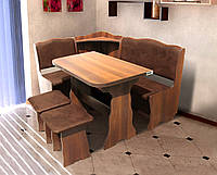 Кухонный комплект Симфония (уголок+стол+2 табурета) цвет Вишня/Медовая