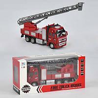 Машина металлическая модель пожарной машины