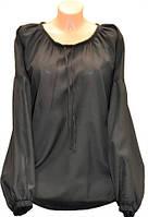 Сорочка под вышивку женская черная (58,56,52,50,48,46 размер)
