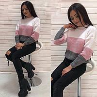 Вязанный свитер Радуга, фото 1