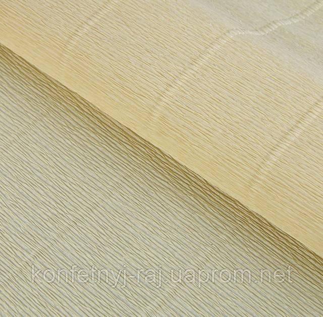 Гофрированная бумага кремовая креп 17А1