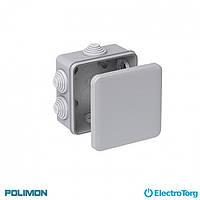Монтажная коробка (распаячная, распределительная, соединительная) 150*110*70 Polimon