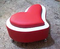 Пуфик сердце на заказ Днепр. Мягкая мебель на заказ. Пуфик для прихожей.