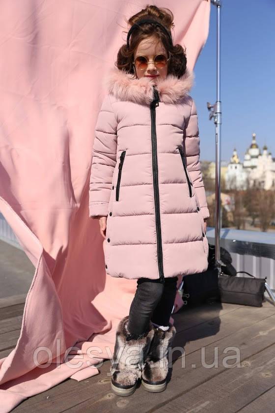 Пальто детское зимнее Вики2 ТМ Нуи Вери - Размеры 116